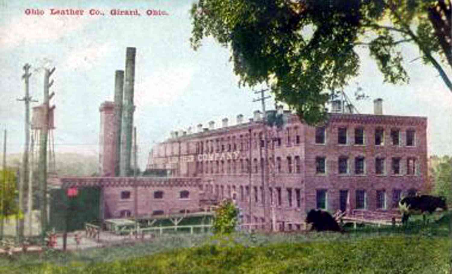 Joseph W Smith Patented The Process Of Preparation Of Leather Which Started The Company Ohio Leather Which Had Stood Opposite The Barnhisel House